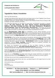 REISEN, TAGESFAHRTEN, KREUZFAHRTEN 2019 - KUS Reisen, 73107 Eschenbach und 73035 Göppigen