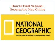 How to Find National Geographic Map Online