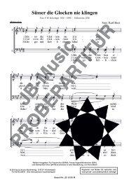 Süsser die Glocken nie klingen (für Männerchor TTBB)