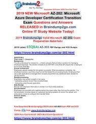 (2019-February-New) AZ-202 PDF and AZ-202 VCE Dumps 65Q Free Download(Case Study2)