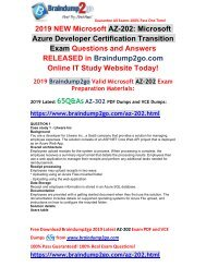 (2019-February-New) AZ-202 PDF and VCE Dumps 65Q Free Download(Case Study1)