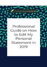 Professional Guide on How to Edit My Personal Statement in 2019