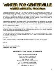 2019 Winter Centerville Elks Athletic Program