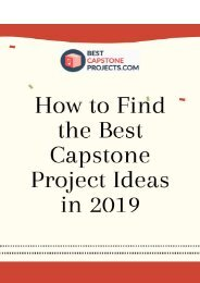 How to Find Best Capstone Project Ideas in 2018/2019