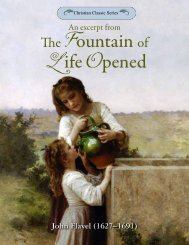 An excerpt from The Fountain of Life Opened