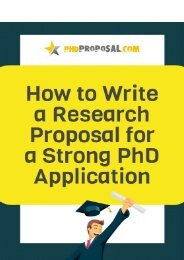 How to write a research proposal for a strong PhD application