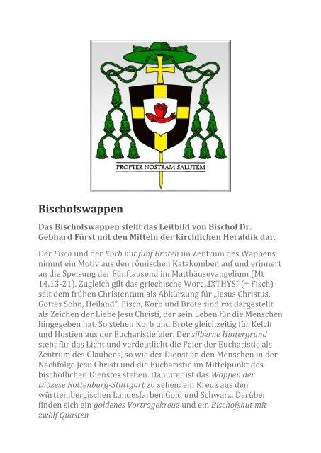 Das Wappen von Gebhard Fürst^J Bischof der Diözese Rottenburg-Stuttgart