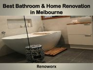 Best Bathroom & Home Renovation in Melbourne - Renoworx