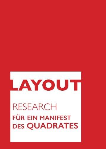 Layout für eine Brochure