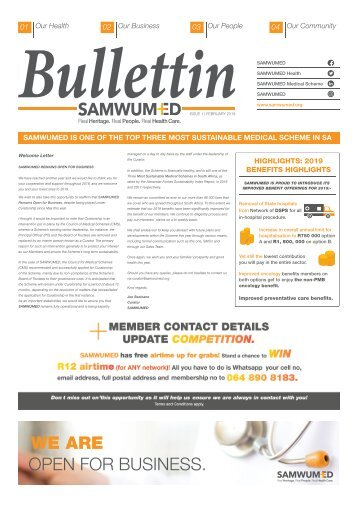 Samwumed Bulletin February 2019  - 1 Issue