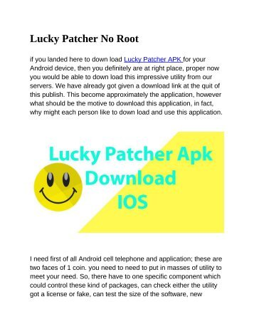 lucky patcher apk no root ios