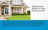 Best Sliding Door Repair in North Vancouver BC