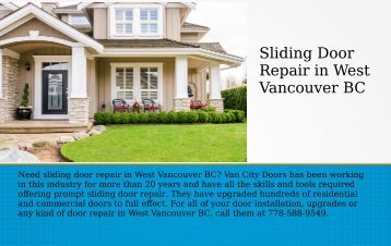 Best SlidingDoor Repair in North Vancouver BC