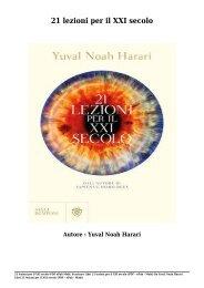Scaricare Libri 21 lezioni per il XXI secolo Gratis Di Yuval Noah Harari