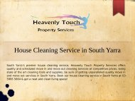 Reliable House Cleaning Services in South Yarra