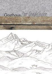 Speisekarte Gasthaus zur Gondelbahn Winter 2019/2020