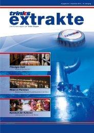 "Trinks Kundenmagazin ""extrakte"" Ausgabe  33 – 12/2018"