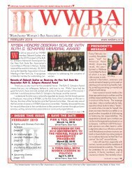 WWBA February 2019 Newsletter
