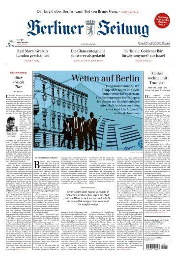 Berliner Zeitung 18.02.2019