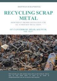 5 Important Benefits Of Recycling Scrap Metal