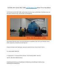 CUSTOM, WA +62 812-9627-2689, Jual Bio Septic Tank Bekasi Timur Kota Bekasi