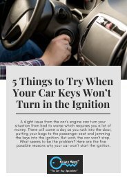 Krazy Keys   5 Things to Do to Start Your Car Ignition