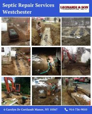 Septic Repair Services Westchester