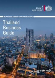 Thailand Business Guide - UK Trade & Investment