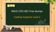 CIP Level 2 NACE-CIP2-001 dumps