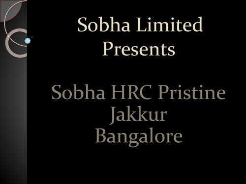 Sobha HRC Pristine - Lush Apartments for Sale in Bangalore