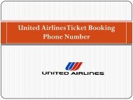 United Airlines Tickets Booking Phone Number +1 844 550 9444