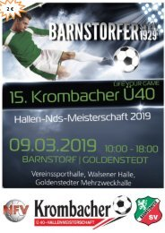 15. Krombacher Ü40 Hallen Niedersachsenmeisterschaft 2019