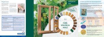 Farbspektrum Holz - Kolmer Fenster - Türen Wintergarten GmbH