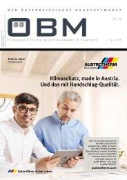 2019-1-2 OEBM Der Österreichische Baustoffmarkt -  AUSTROTHERM Klimaschutz Made in Austria
