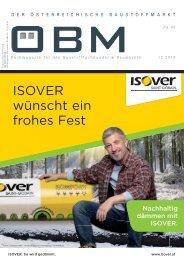 2018-12 OEBM Der Österreichische Baustoffmarkt -  ISOVER wünscht ein frohes Fest