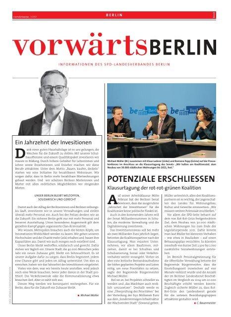 vorwärts Berlin 1-2019