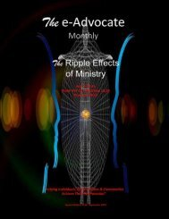 The Ripple Effects of Ministry