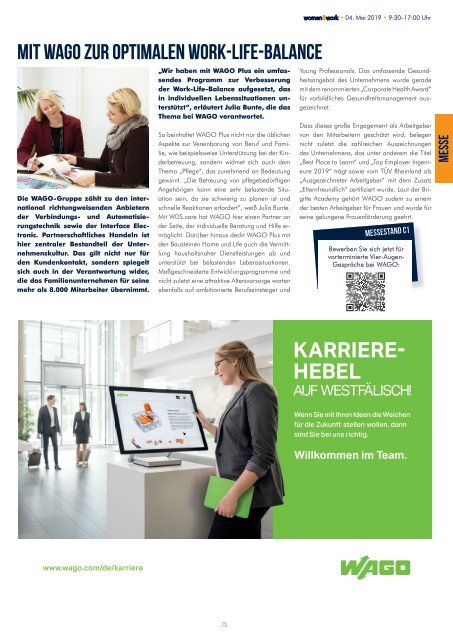 women&work 2019 - das Messemagazin