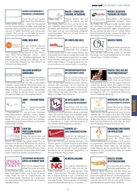 women&work 2019 - das Messemagazin