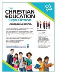 2019 Christian Education Expo Ottawa Poster
