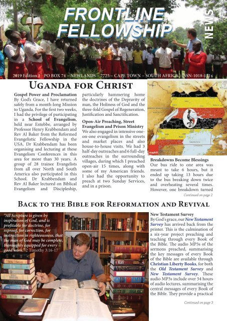 FF News Edition 1 of 2019 - Uganda for Christ