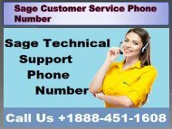 Sage Customer Service Phone Number 19b