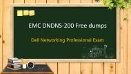 Dell EMC DNDNS-200 exam questions