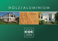 Holz/Aluminium-Broschüre - EGE