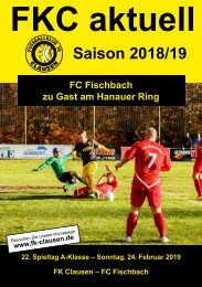 FKC Aktuell - 22. Spieltag - Saison 2018/2019