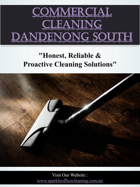 Commercial Cleaning Dandenong South