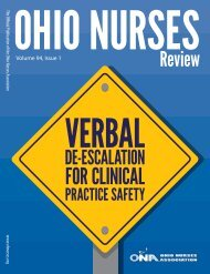 Ohio Nurses Review -  March 2019