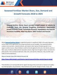 Seaweed Fertilizer Market Share, Size, Demand and Growth Forecasts 2018 to 2025