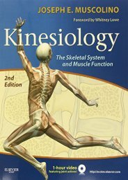 PDF Download (yumpu 66) Kinesiology: The Skeletal System and Muscle Function, 2e  [READ]