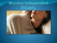 Unique services from Mumbai Independent Escorts